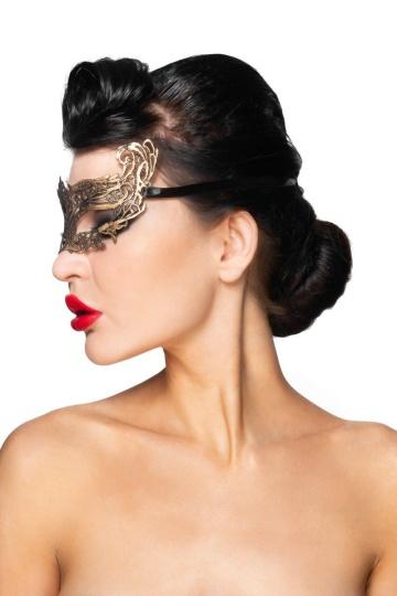 """Золотистая карнавальная маска """"Хассалех"""""""