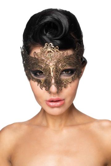 """Золотистая карнавальная маска """"Шедди"""""""