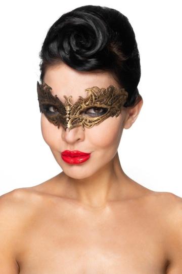 """Золотистая карнавальная маска """"Денеб"""""""