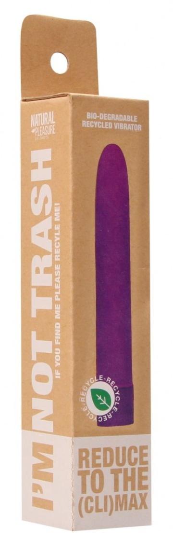 Фиолетовый эко-вибромассажер Natural Pleasure - 17,7 см.