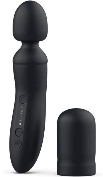 Черный клиторальный стимулятор Bthrilled Premium - 21 см.
