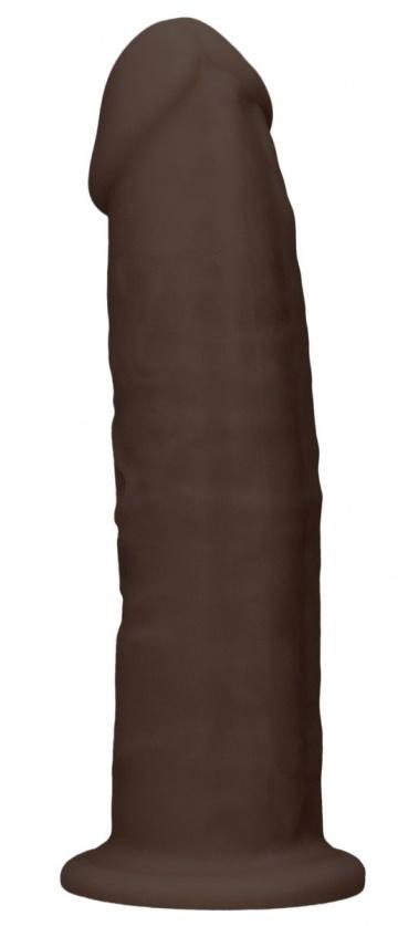 Коричневый фаллоимитатор без мошонки Silicone Dildo Without Balls - 15 см.