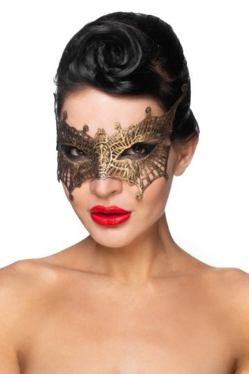 """Золотистая карнавальная маска """"Алькор"""""""
