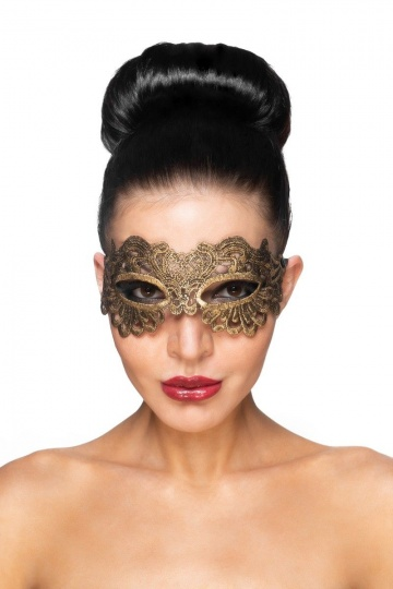 "Золотистая карнавальная маска ""Антарес"""