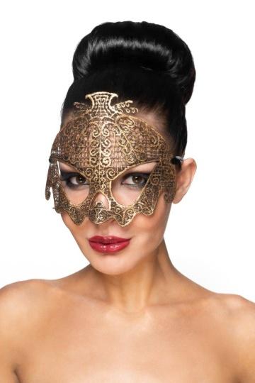 """Золотистая карнавальная маска """"Нави"""""""