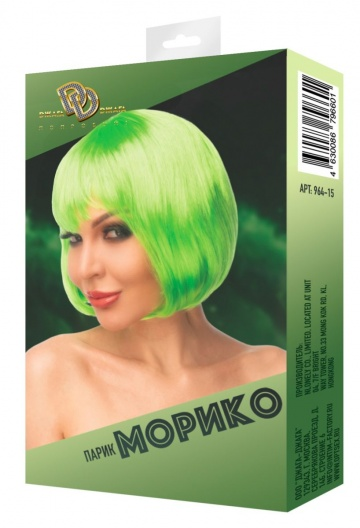 "Салатовый парик ""Морико"""