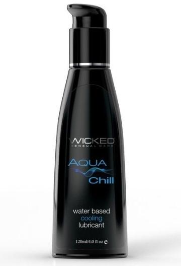 Охлаждающий лубрикант на водной основе Wicked AQUA CHILL - 120 мл.