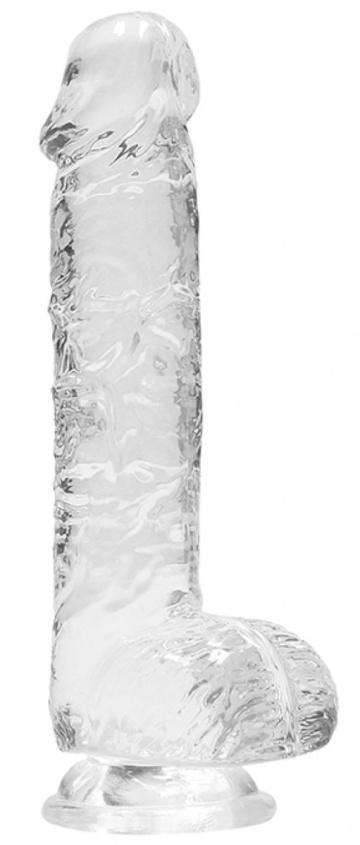 Прозрачный фаллоимитатор Realrock Crystal Clear 7 inch - 19 см.