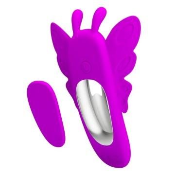 Лиловая вибробабочка в трусики Aileen с пультом ДУ