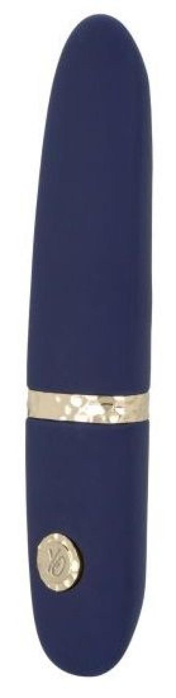 Синий мини-вибромассажер Daisy - 10,75 см.