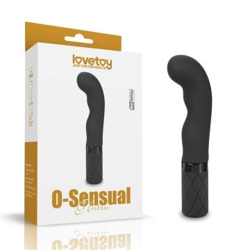 Черный вибромассажер O-Sensual G Intru - 15,24 см.