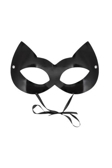 """Оригинальная лаковая черная маска """"Кошка"""""""