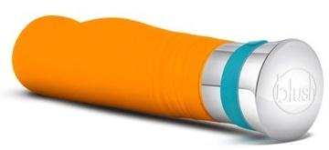 Оранжевый вибромассажер LUCENT - 17,2 см.