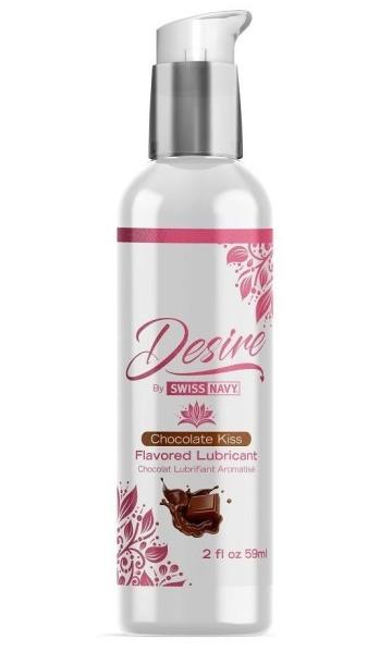Женская смазка на водной основе с ароматом шоколада Desire Flavored Lubricant Chocolate Kiss - 59 мл.