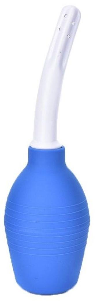 Синий анальный душ с изогнутым наконечником