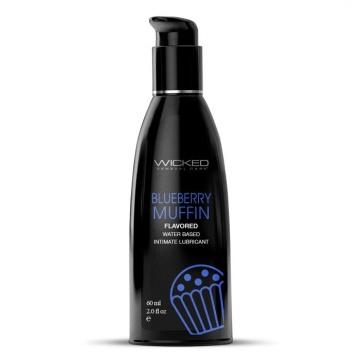 Лубрикант на водной основе с ароматом черничного маффина AQUA Blueberry Muffin - 60 мл.