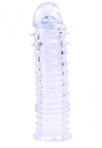 Прозрачная насадка на пенис Swirls Sleeve - 16 см.