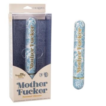 Голубой классический вибратор Naughty Bits Mother Fucker Personal Vibrator - 18 см.
