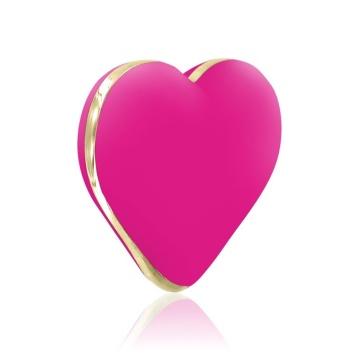 Ярко-розовый вибратор-сердечко Heart Vibe