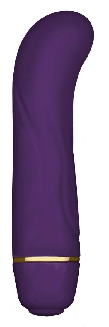 Фиолетовый G-стимулятор с вибрацией Mini G Floral - 10 см.