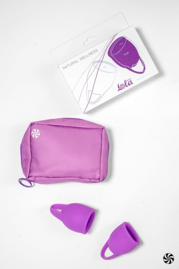 Набор из 2 лиловых менструальных чаш Tulip