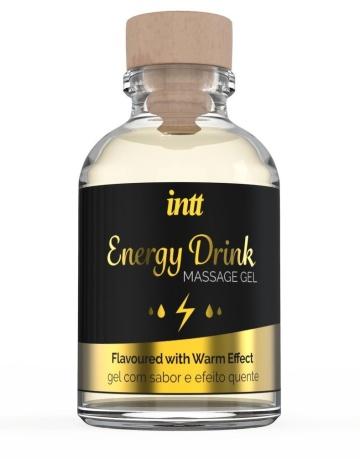 Массажный гель с согревающим эффектом Energy Drink - 30 мл.