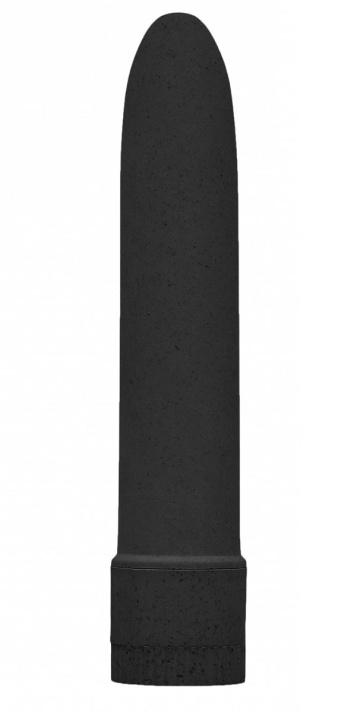"""Черный вибратор 5.5"""" Vibrator Biodegradable - 14 см."""