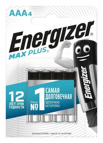 Батарейки Energizer MAX PLUS LR03/E92 AAA 1.5V - 4 шт.