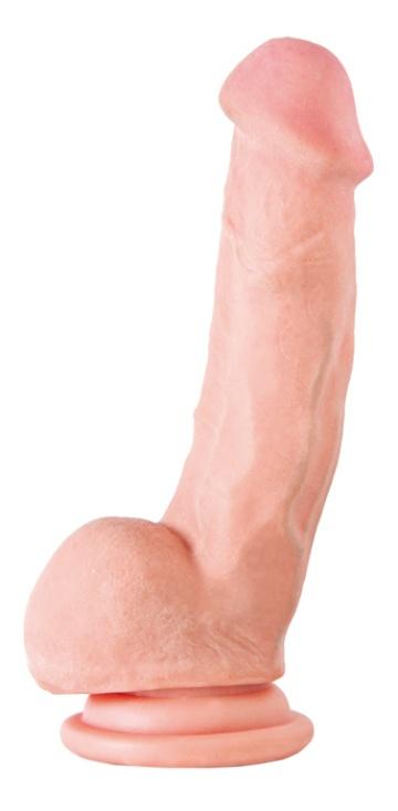 Реалистичный фаллоимитатор на присоске - 15 см.