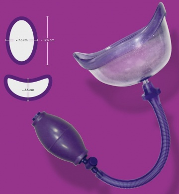Фиолетовая вакуумная помпа Bad Kitty Vagina Sucker