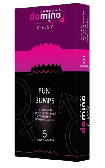Текстурированные презервативы DOMINO Classic Fun Bumps - 6 шт.