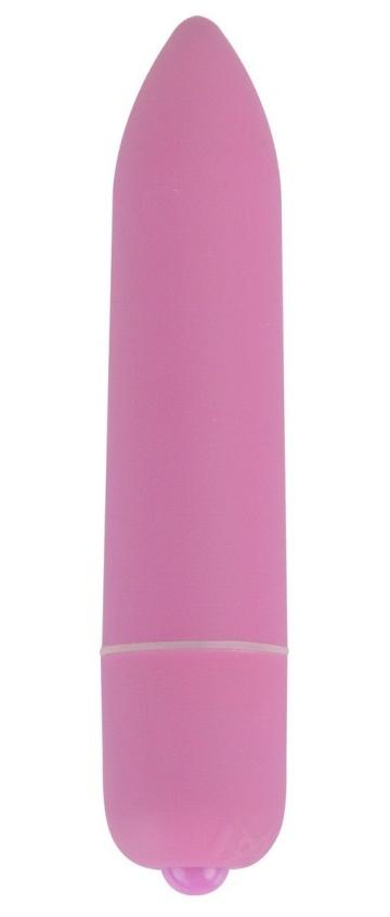 Розовая удлинённая вибропуля Power Bullet Pink - 8,3 см.