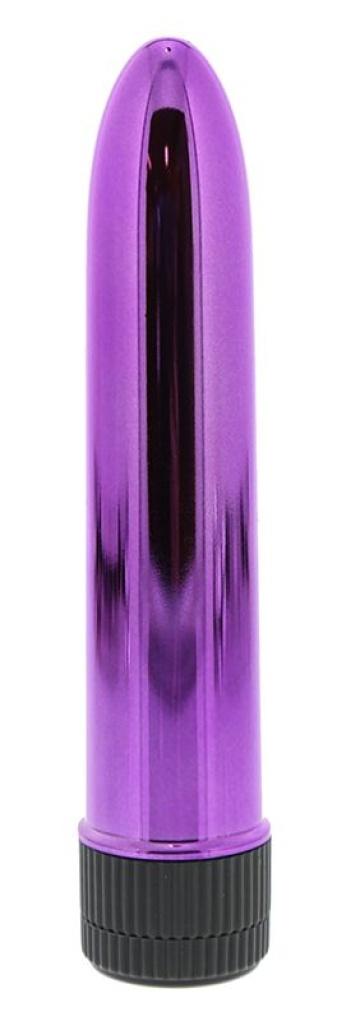 Ярко-розовый гладкий вибромассажёр KRYPTON STIX 5 MASSAGER M/S PINK -  12,7 см.