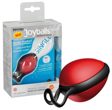 Красный вагинальный шарик со смещенным центром тяжести Joyballs Secret
