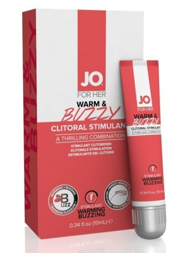 Клиторальный крем JO WARM & BUZZY CLITORAL GEL - 10 мл.