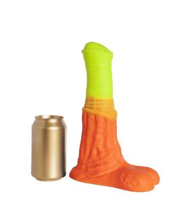 """Оранжево-жёлтый фаллоимитатор """"Пегас Large+"""" - 26,5 см."""