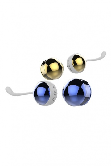 Синие и золотистые вагинальные шарики Nalone Yany