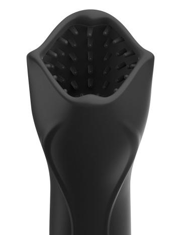 Черный вибромастурбатор-ротатор Vibrating Roto-Teazer