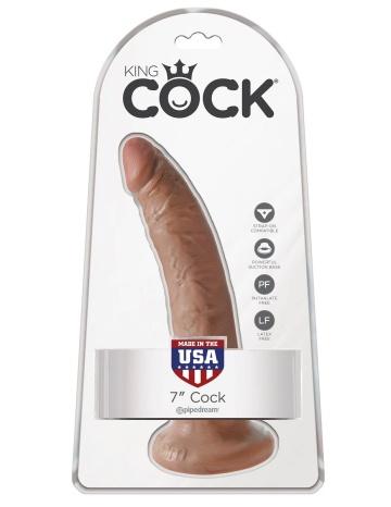 """Фаллоимитатор-мулат с присоской 7"""" Cock - 17,8 см."""