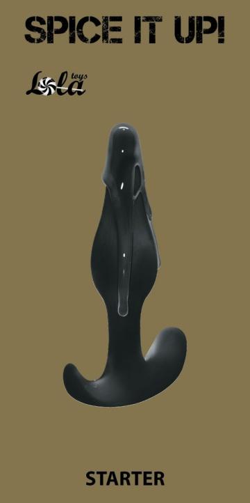 Чёрная анальная пробка Starter - 10,5 см.