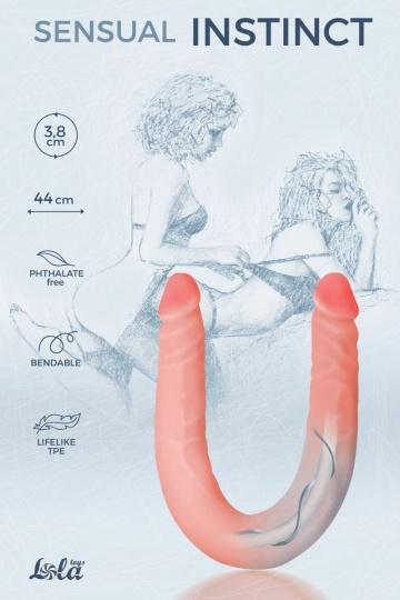 Гнущийся фаллоимитатор Sensual Instinct - 44 см.