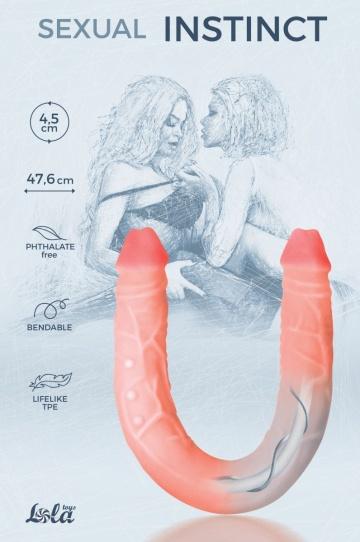 Гнущийся фаллоимитатор Sexual Instinct - 47,6 см.