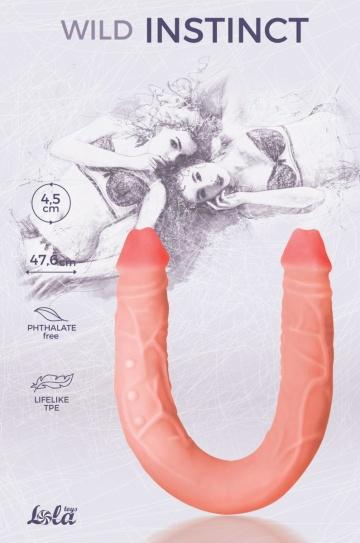 Двусторонний фаллоимитатор Wild Instinct - 47,6 см.