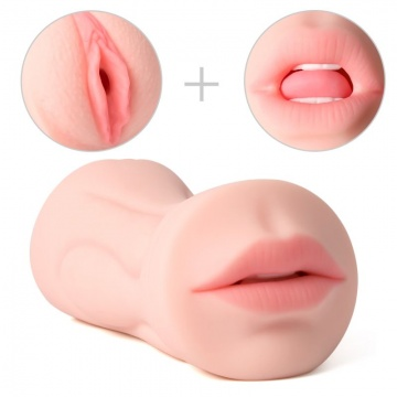 Двусторонний мастурбатор Debby - вагина и ротик