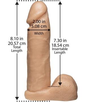 """Насадка с трусиками Vac-U-Lock Set 8"""" Realistic Ultra Harness - 20,6 см."""